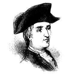 Francis john marquis de chastellux vintage vector