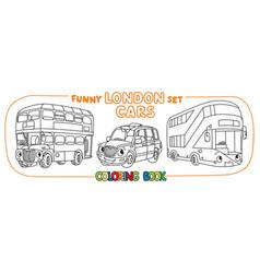 funny london transport set coloring book for kids vector image