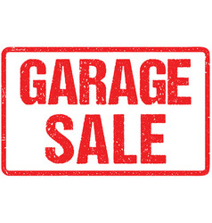 garage sale typography isolated on white vector image