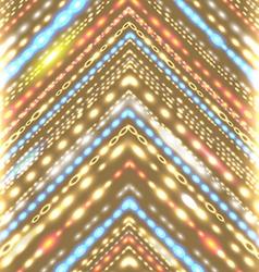 Geometric background with stylized shiny arrow vector image