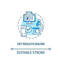 Getting results online concept icon vector