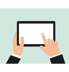 hand on device vector image