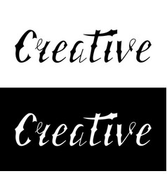 Hand written retro lettering creative vector