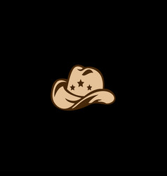 Hat cowboy icon logo vector