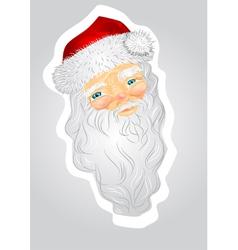 Head of Santa Claus vector image
