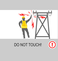High voltage hazards vector