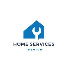 home house service logo icon vector image