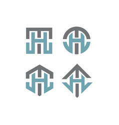 ht initial logo pack vector image