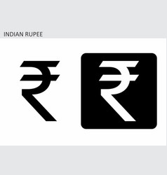 indian rupee sign vector image