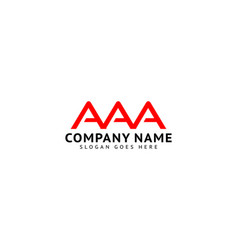 Initial letter aaa logo icon design template vector
