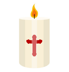 isolated paschal candle vector image