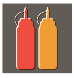 Ketchup and mustard flat design vector