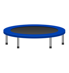 kid trampoline icon realistic style vector image