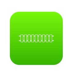 locomotive railroad icon green vector image