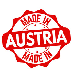 Made in austria sign or stamp vector