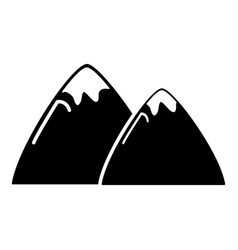 mountain icon simple style vector image
