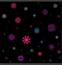 Multicolored snowfall seamless vector