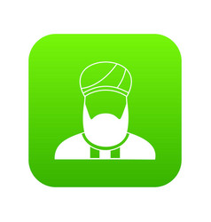 muslim preacher icon digital green vector image
