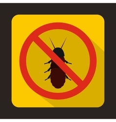 No termite sign icon flat style vector image vector image
