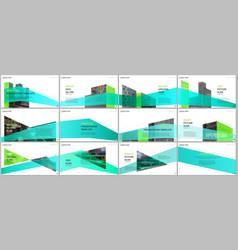 Presentations design portfolio templates vector