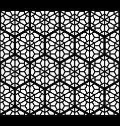 seamles geometric ornament based kumiko in black vector image