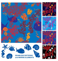 Seamless Coral Reef vector
