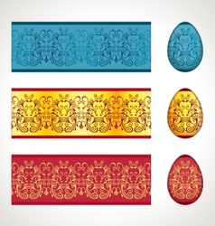 Seamless easter frieze vector
