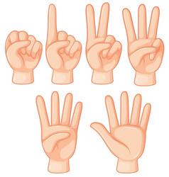 Set hand gesture vector