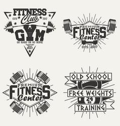 Set of vintage emblems vector
