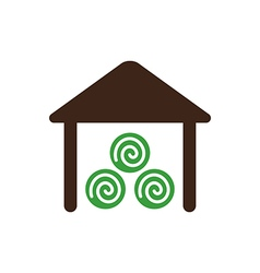 Shed icon Farm vector image