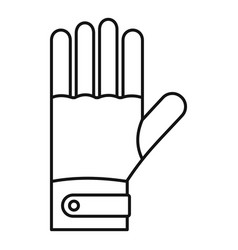 Ski gloves icon outline style vector