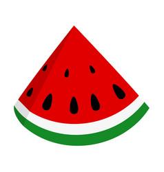 slice of juicy summer watermelon vector image