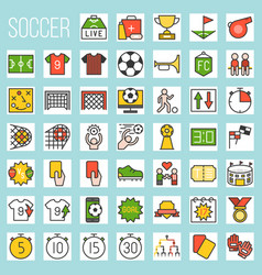 soccer filled icons vector image