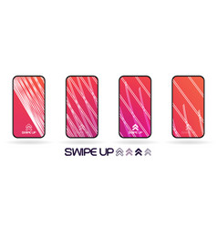 social network gradient style swipe up background vector image
