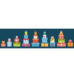 Stacks gift boxes vector