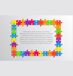 the color background puzzle jigsaw puzzle banner vector image