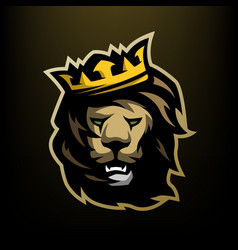 The Lion King With A Crown Royalty Free Vector Image