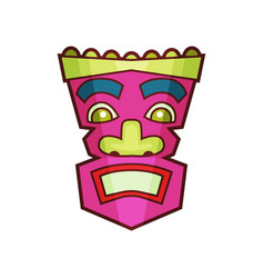 Tribal mask pink traditional african or indian vector