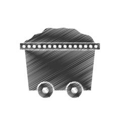 Trolley car mining mineral full stock vector