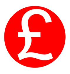 Turkish lira sign white icon in red vector