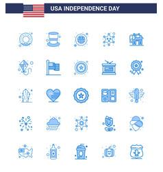 Usa independence day blue set 25 usa vector