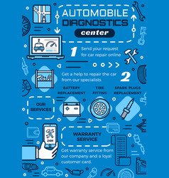 Vehicle diagnostics center car repair services vector