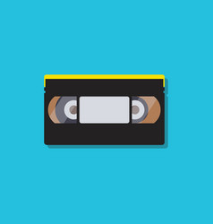 Video cassette tapes in flat style vector