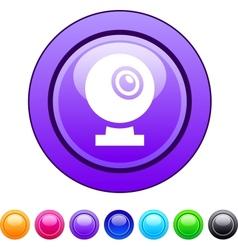 Webcam circle button vector image