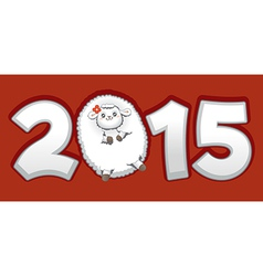 Year of the Sheep 2015 Chinese Zodiac vector