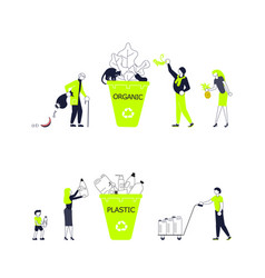 zero waste concept poster vector image