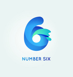 6 digit icon vector image