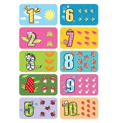 Baby numbers vector image