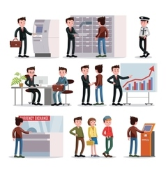 Bank People Set vector image vector image