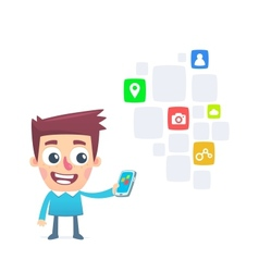 Extensive choice free apps for smartphone vector image vector image